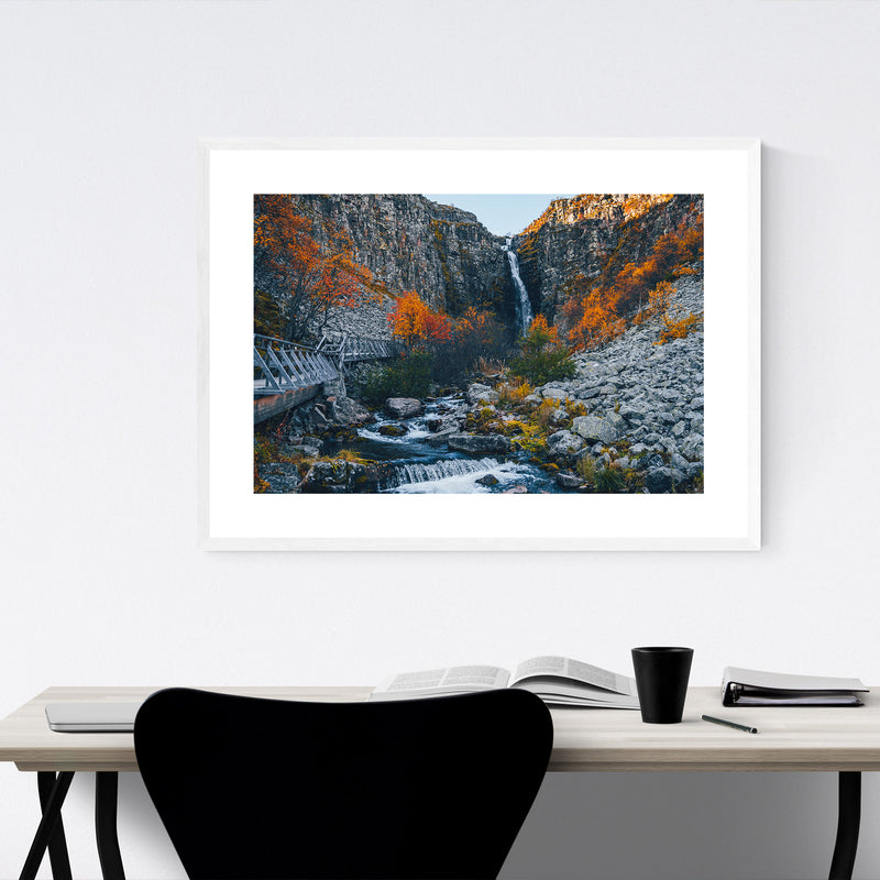 Sweden Landscape Nature Autumn Framed Art Print