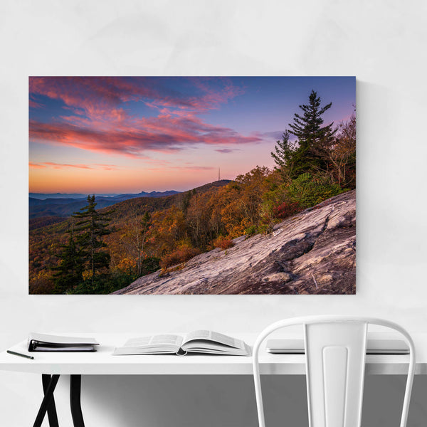 Autumn Mountains Landscape View Art Print
