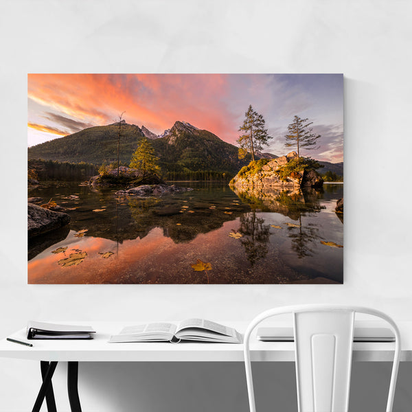 Autumn Lake Mountains Germany Art Print