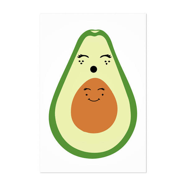 Avacado Kitchen Food Fruit Art Print