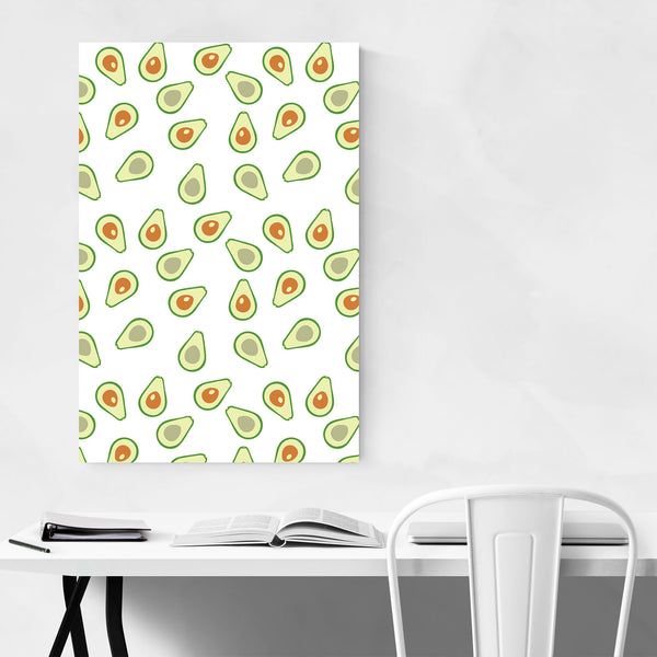 Avacado Kitchen Fruit Pattern Art Print