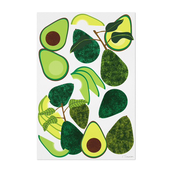 Food Avacado Tropical Kitchen Art Print