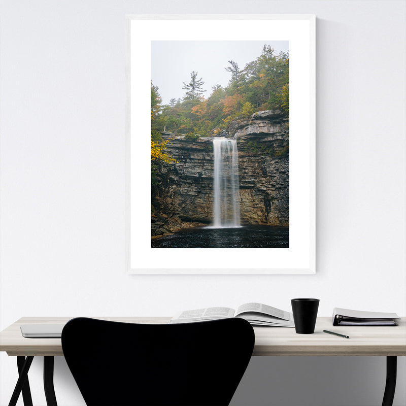 Minnewaska Waterfall New York Framed Art Print
