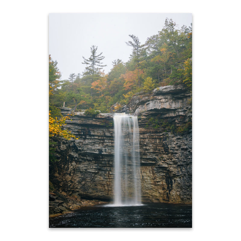 Minnewaska Waterfall New York Metal Art Print
