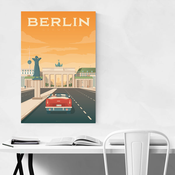 Minimal Berlin Travel Print Art Print