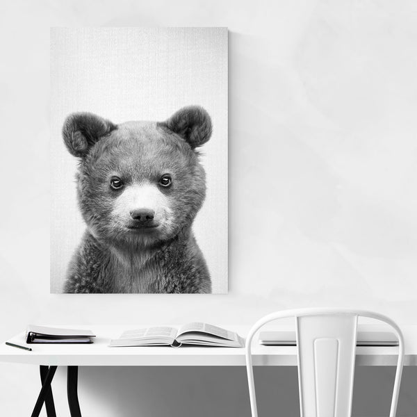 Cute Baby Bear Peekaboo Animal Art Print