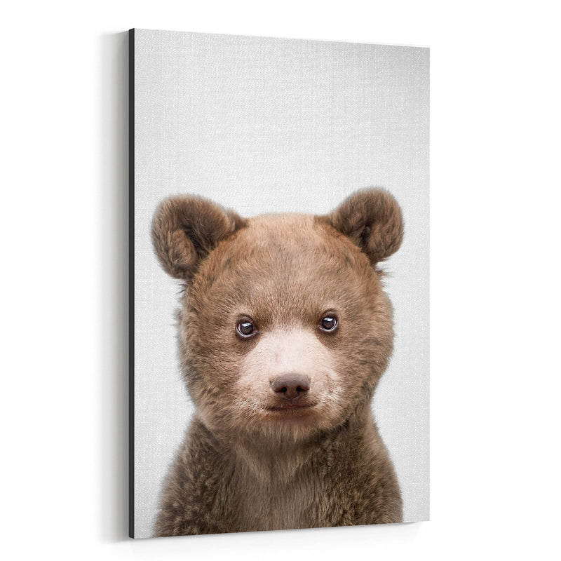 Cute Baby Bear Peekaboo Animal Canvas Art Print