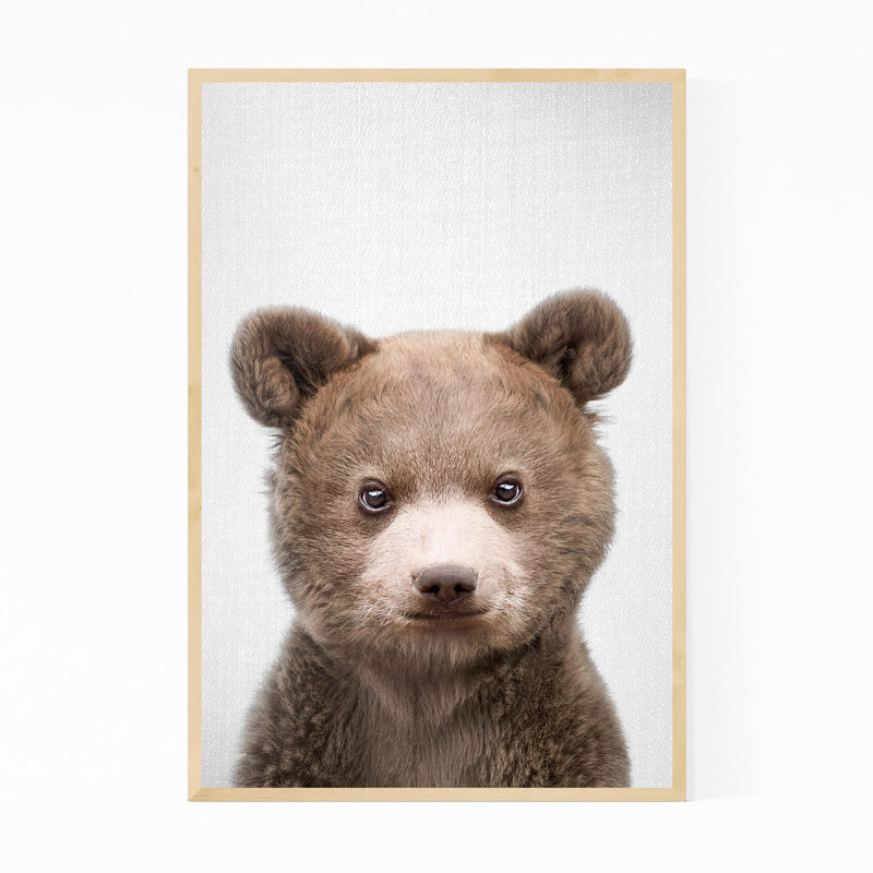 Cute Baby Bear Peekaboo Animal Framed Art Print