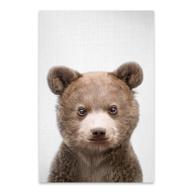 Cute Baby Bear Peekaboo Animal Metal Art Print