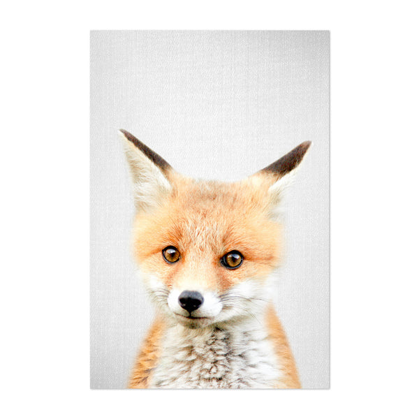 Cute Baby Fox Peekaboo Animal Art Print