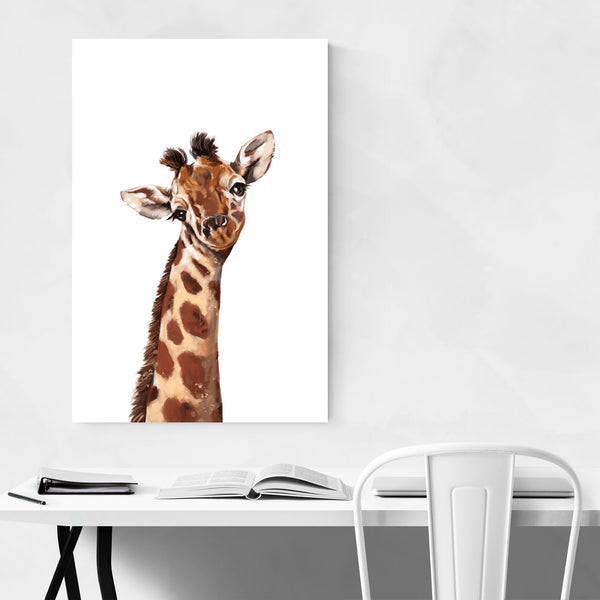 Cute Giraffe Peekaboo Animal Art Print