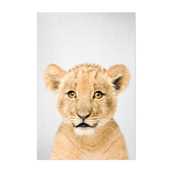 Cute Baby Lion Peekaboo Animal Art Print