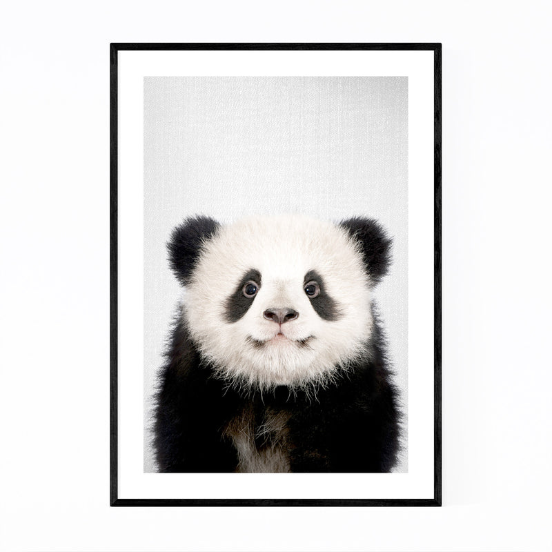 Cute Baby Panda Peekaboo Animal Framed Art Print