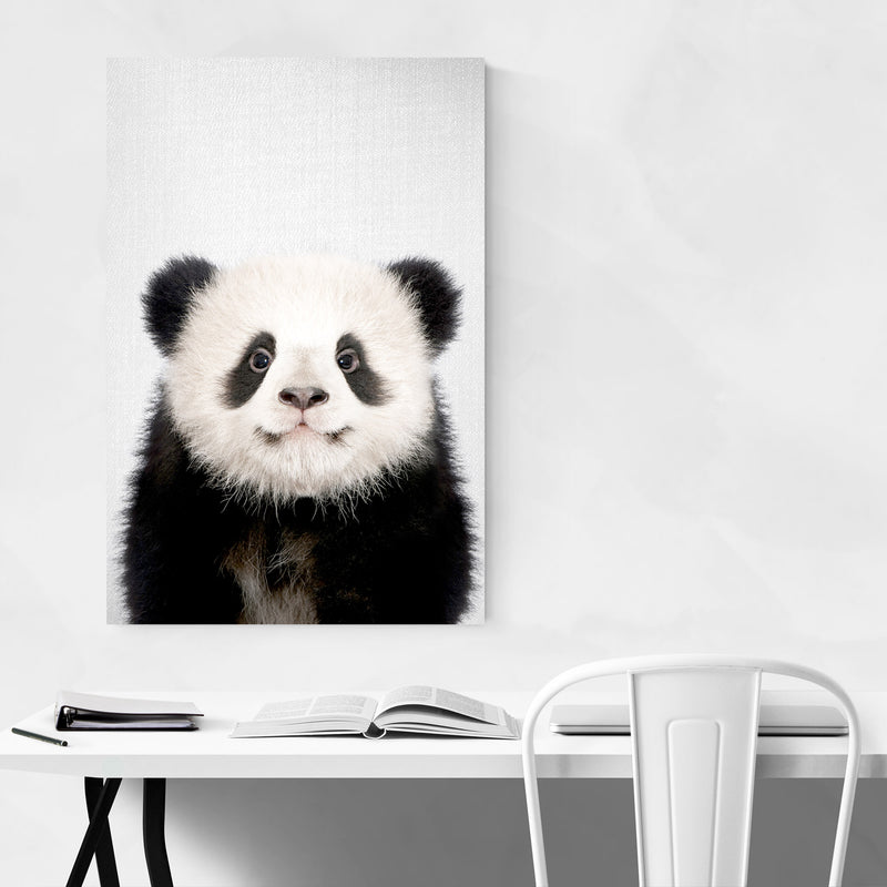 Cute Baby Panda Peekaboo Animal Art Print