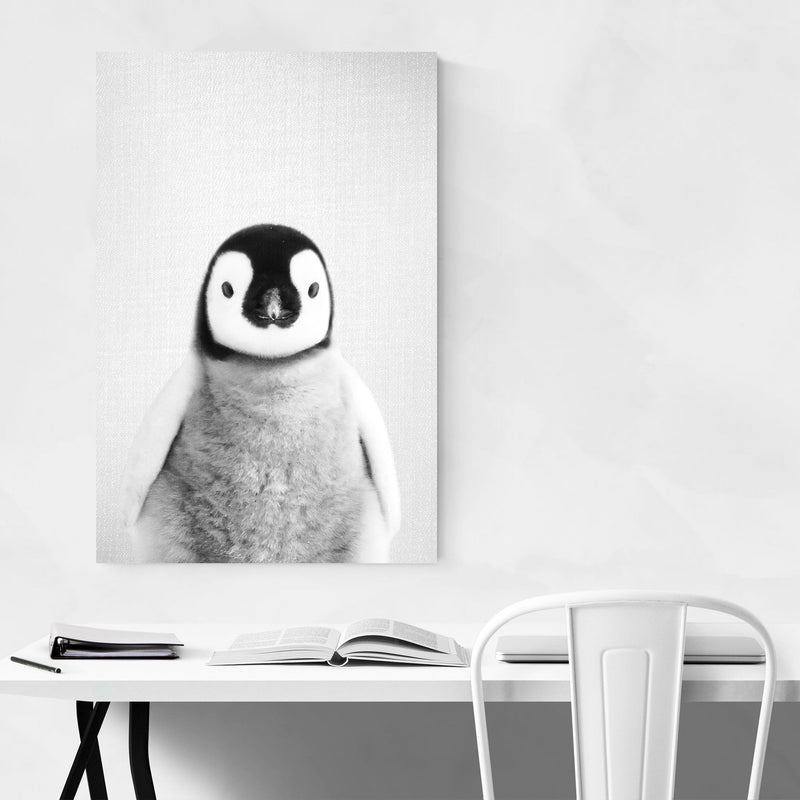 Baby Penguin Peekaboo Animal Metal Art Print