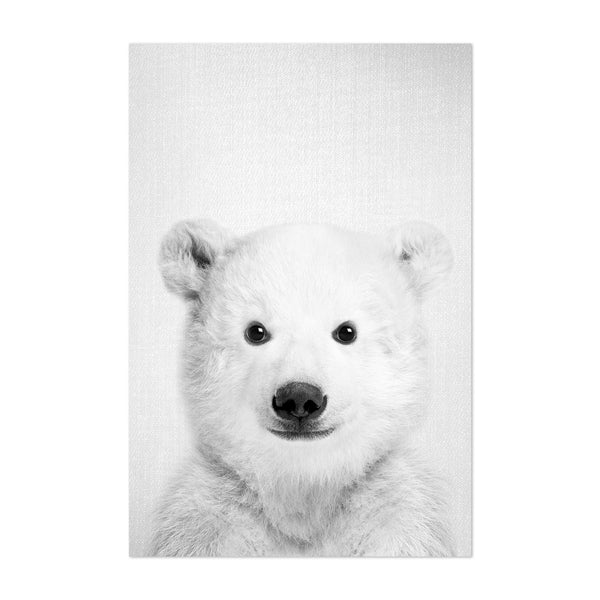 Baby Polar Bear Peekaboo Animal Art Print