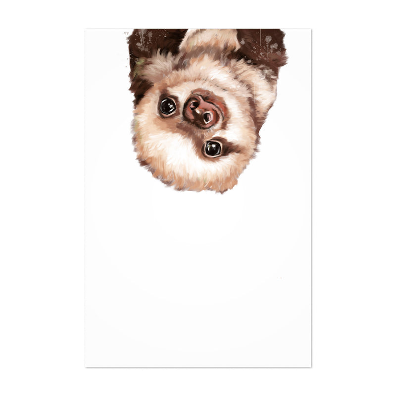 Cute Baby Sloth Peekaboo Animal Art Print