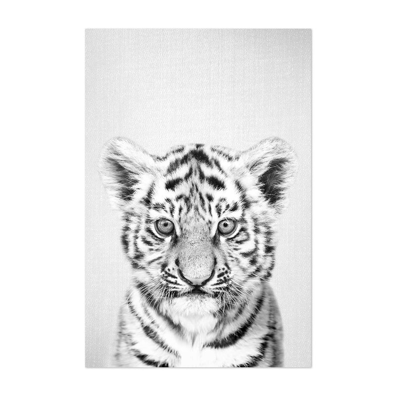 Cute Baby Tiger Peekaboo Animal Art Print
