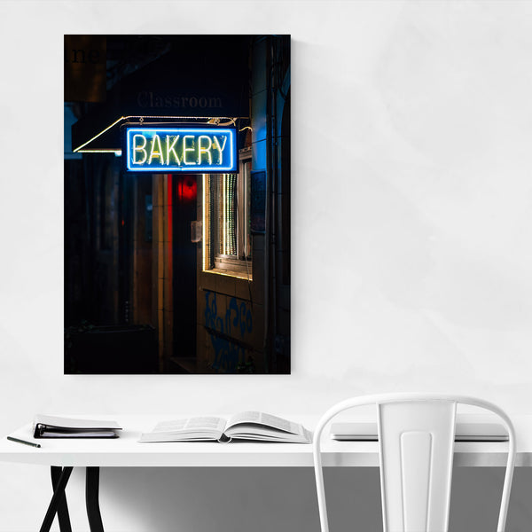 Bakery Neon Sign New York City Art Print
