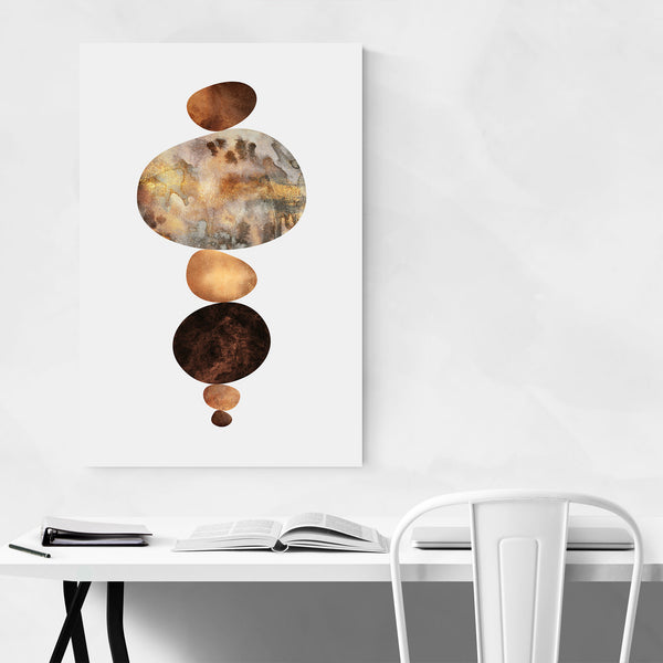 Digital Art Pebbles Nature Art Print
