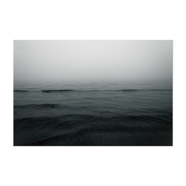Baltic Sea Dark Sky Waves Photo Art Print