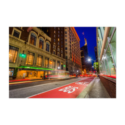Baltimore Night Cityscape Urban Art Print