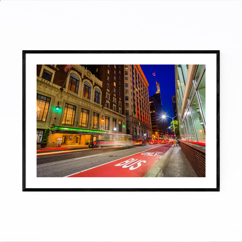 Baltimore Night Cityscape Urban Framed Art Print