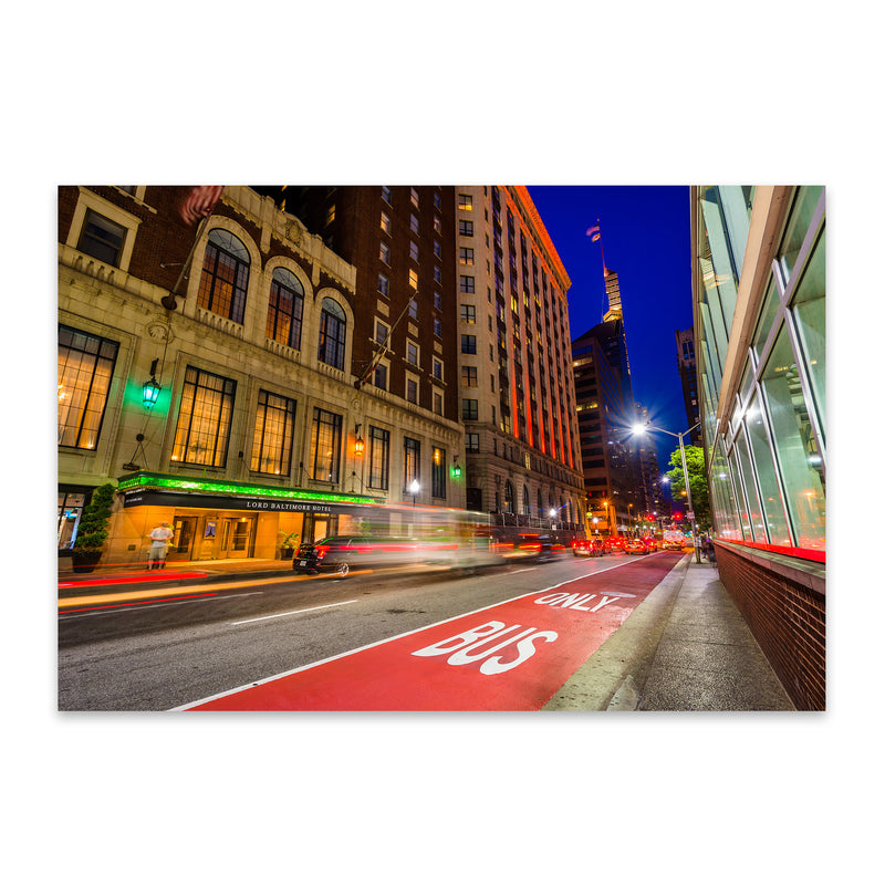 Baltimore Night Cityscape Urban Metal Art Print