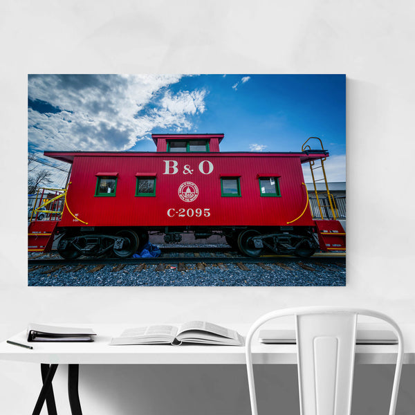 Railroad Train Red Caboose Art Print