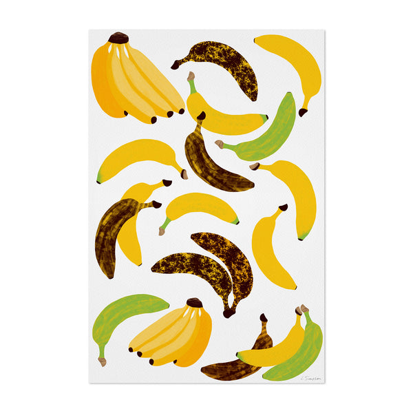 Fruit Banana Tropical Kitchen Art Print