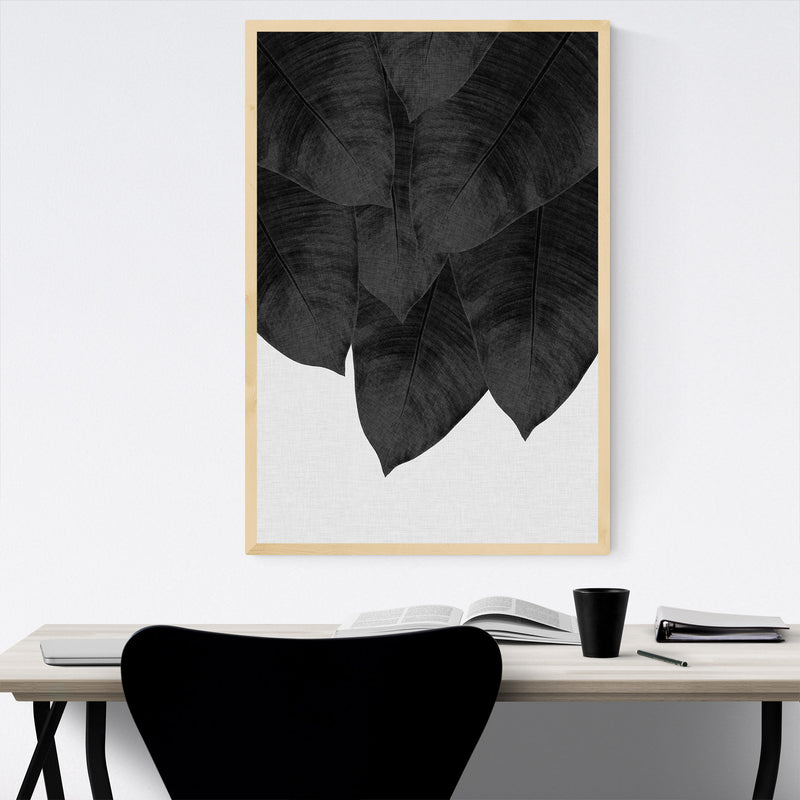 Tropical Banana Leaf Botanical  Framed Art Print