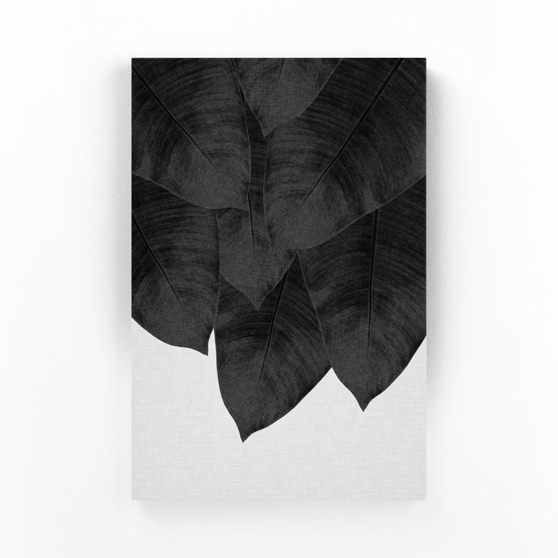 Tropical Banana Leaf Botanical  Mounted Art Print