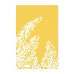 Yellow Banana Leaf Illustration Art Print