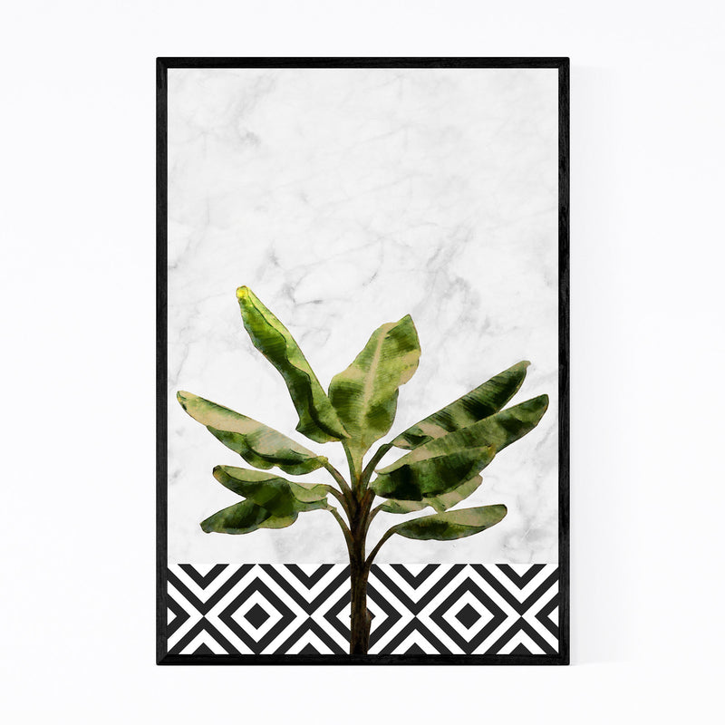 Banana Plant Botanical Floral Framed Art Print