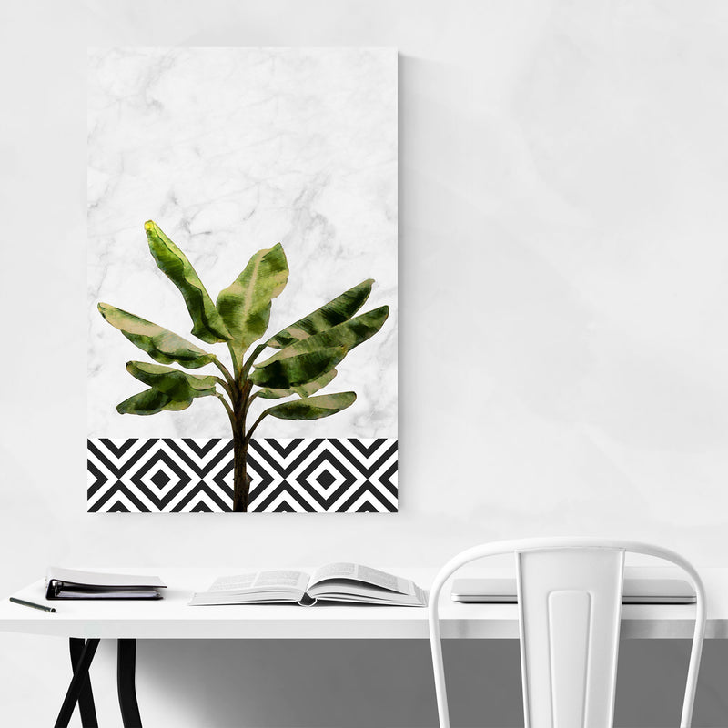Banana Plant Botanical Floral Canvas Art Print