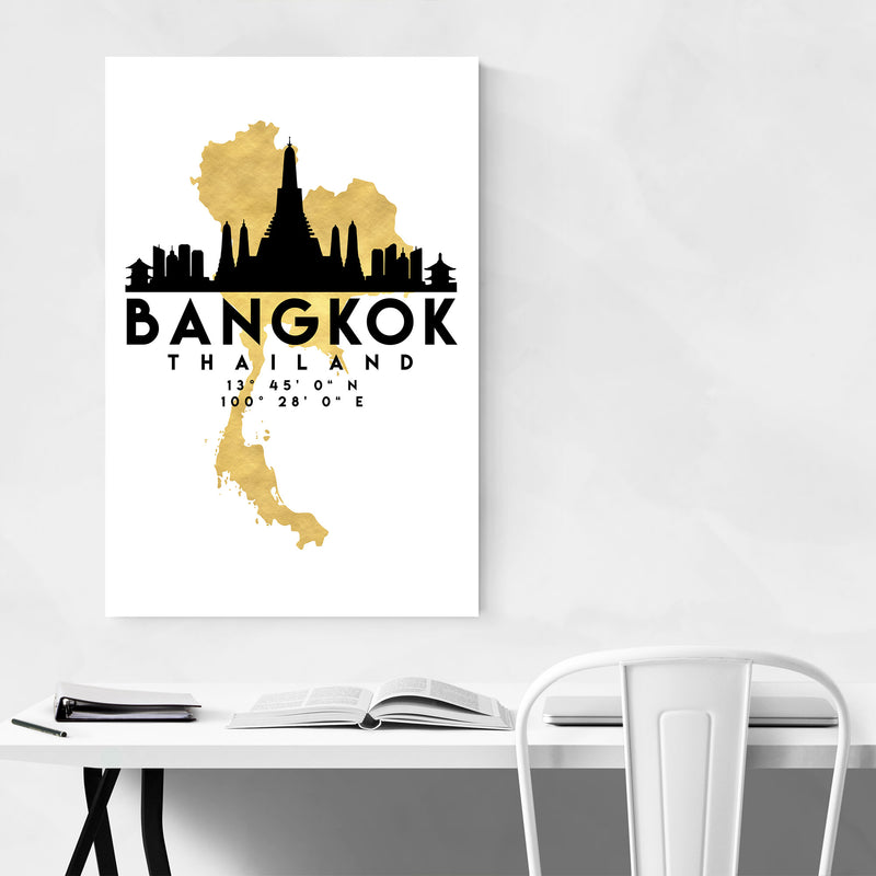 Minimal Bangkok Skyline Canvas Art Print