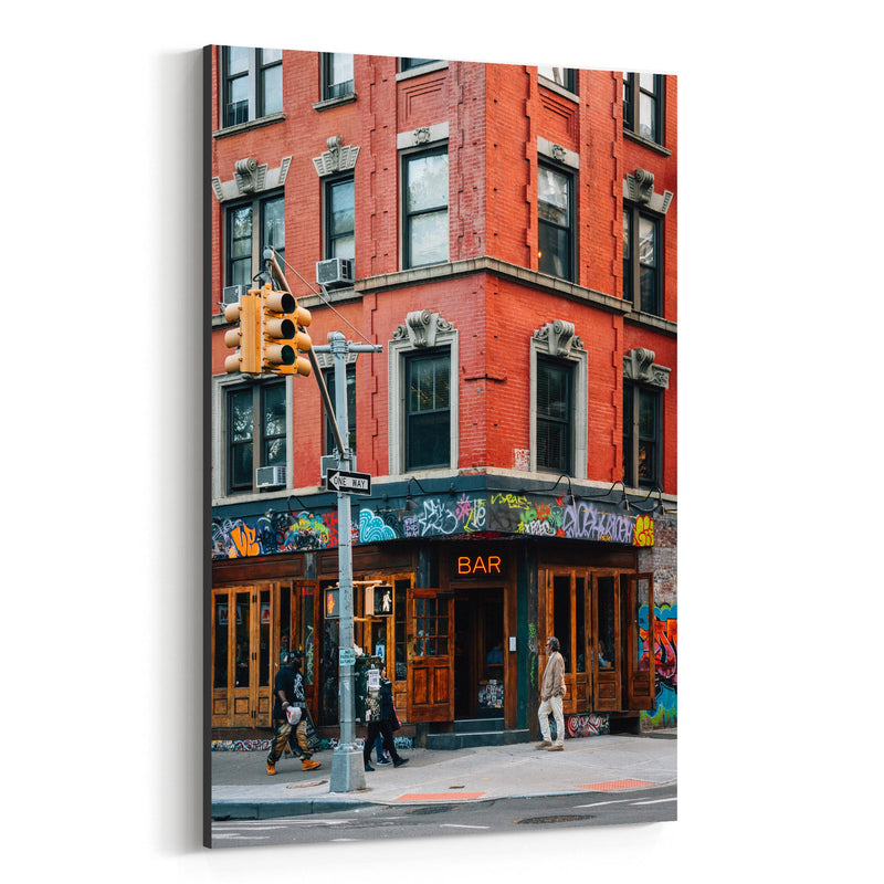 East Village Bar New York City Canvas Art Print