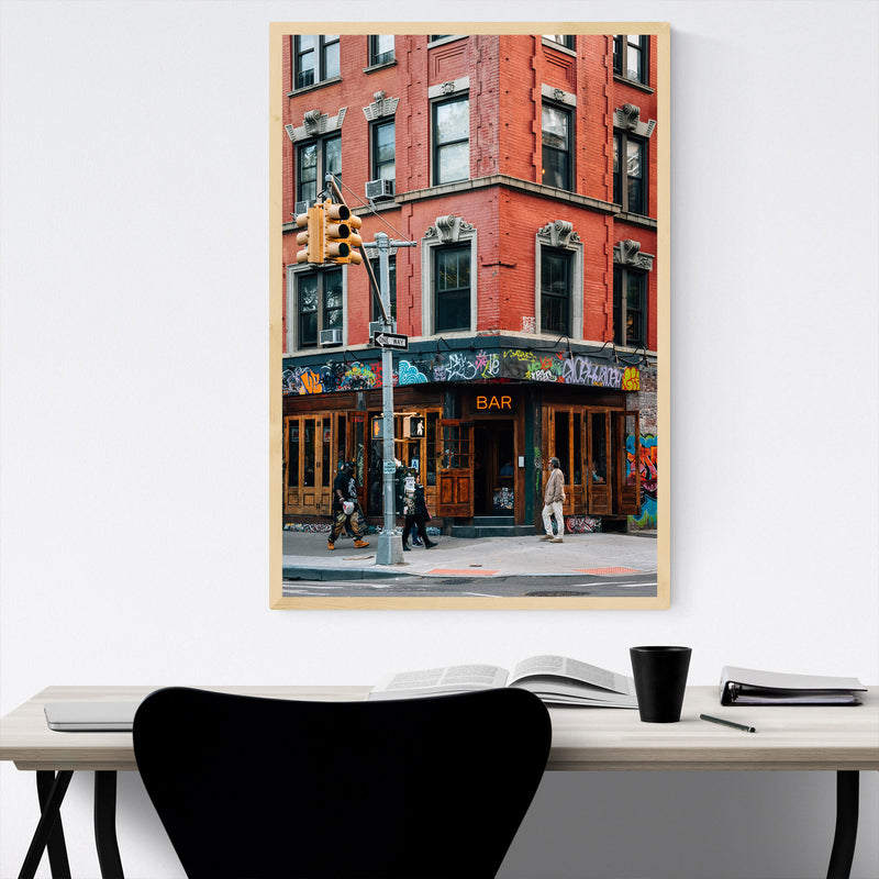 East Village Bar New York City Framed Art Print