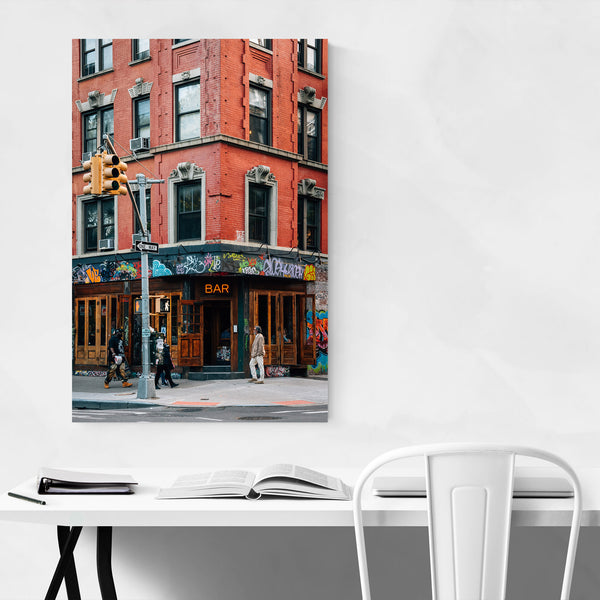 East Village Bar New York City Art Print