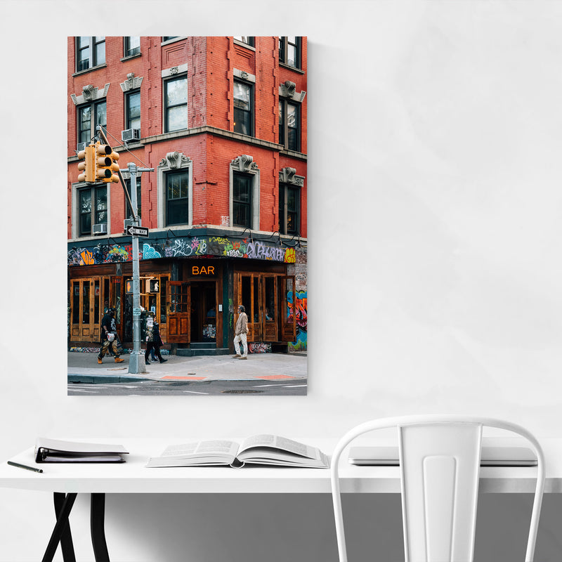 East Village Bar New York City Metal Art Print