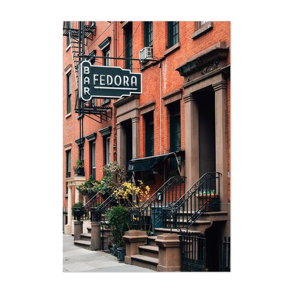 Bar Fedora Sign New York City Art Print