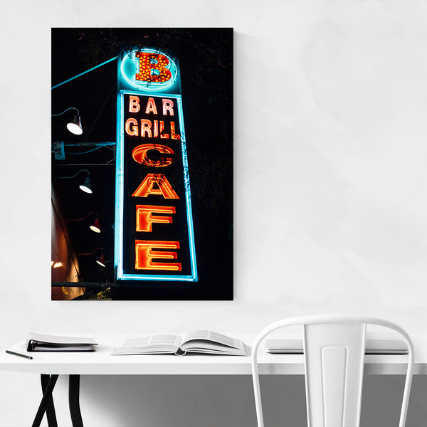 Bar Grill Cafe Sign New York Art Print
