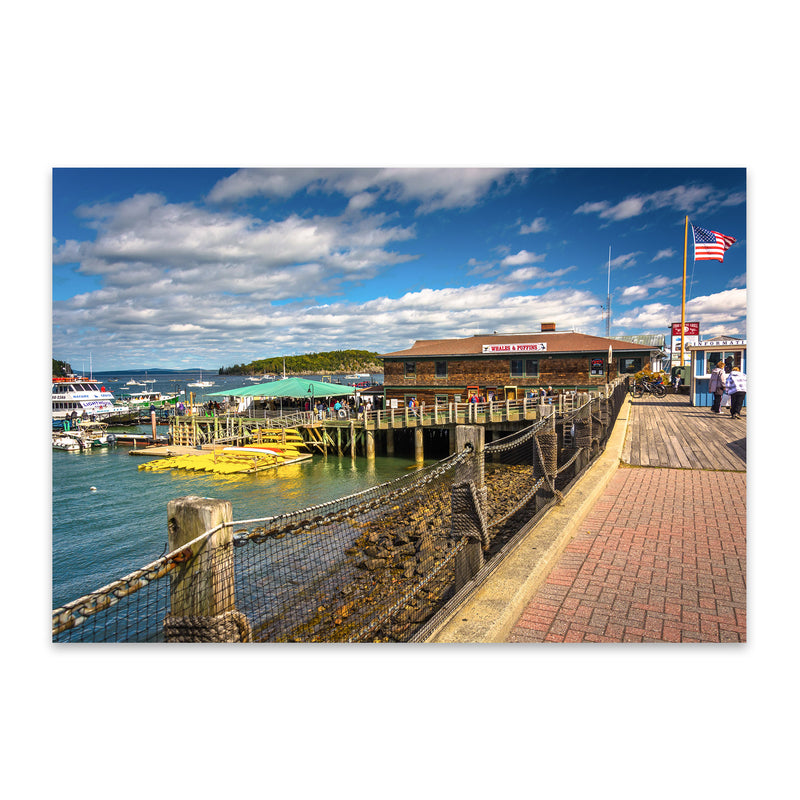 Bar Harbor Maine Boats Nautical Metal Art Print