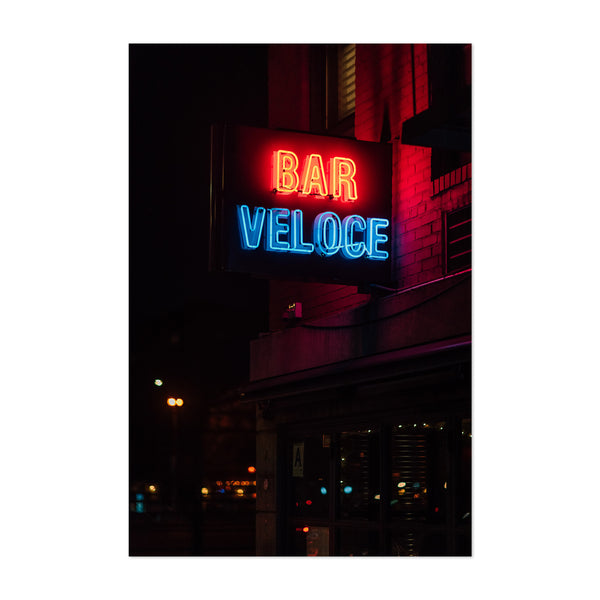 Bar Veloce Neon Sign New York Art Print