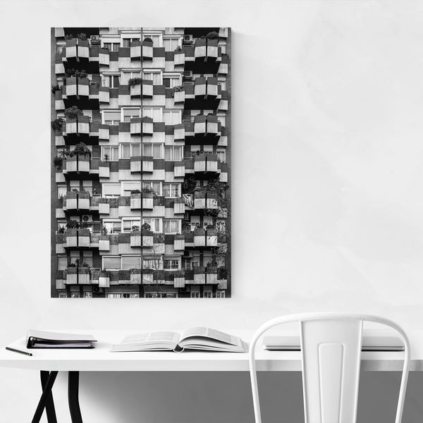 Black & White Barcelona Spain Art Print