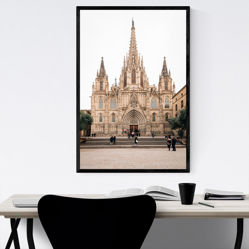 Barcelona Cathedral Spain Urban Framed Art Print