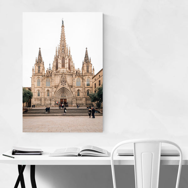 Barcelona Cathedral Spain Urban Art Print