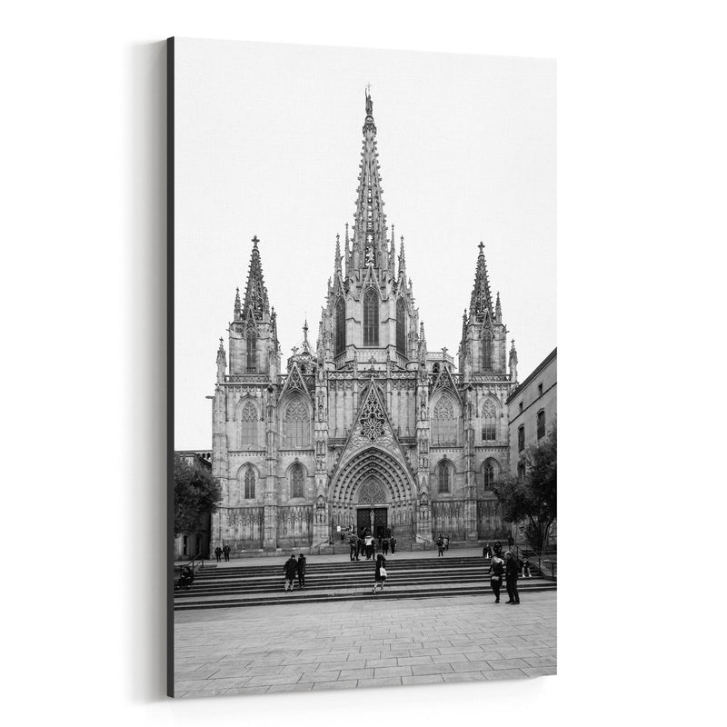 Barcelona Cathedral Spain Urban Canvas Art Print