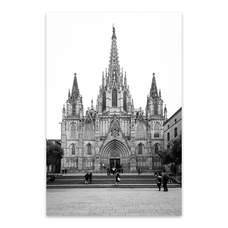 Barcelona Cathedral Spain Urban Metal Art Print