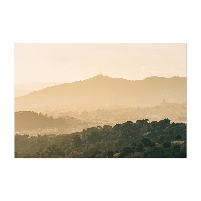 Barcelona Spain Mountains Nature Art Print